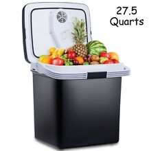 26L Portable Travel Car Electric Cooler Fridge Refrigerator Food Warmer Drinks