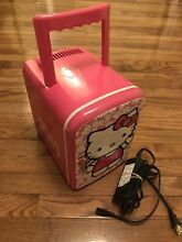 SANRIO  811129 HELLO KITTY Pink Personal Mini Fridge Cooler   Warmer Handle EUC