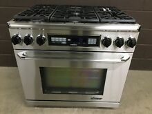 Dacor 36  Range ER36DSCH Dual Fuel 6 Burners Professional Stove Stainless