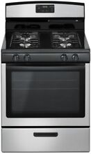Amana Gas Range in Stainless Steel Kitchen Oven 4 Burner Stove Freestanding