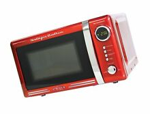 Nostalgia RMO770RED Retro 0 7 Cubic Foot Microwave Oven Red 0 7 Cubic Foot