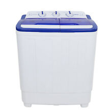 Portable Mini Washing Machine Compact Twin Tub 16lbs Washer Spin