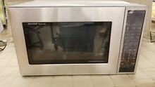 DENT   SHARP SMC1585BS CAROUSEL CONVECTION MICROWAVE OVEN 1 5 CU  FT  900W