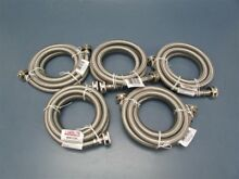 Lot of 5 Certified Appliance 72  Braided Stainless Steel Washing Machine Hose