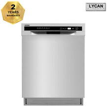LYCAN 24  Pro Style Stainless Steel Automatic Dishwasher Semi built LDW2401SS