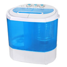 Twin Tub Washing Machine Timer Independent Draining Washer Blue Clear Body