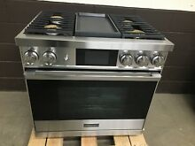 Dacor DOP36M94DLS Modernist PRO Dual Fuel Natural Gas Steam Range Stainless