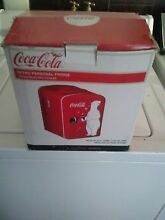 Koolatron Coca Cola Personal 6 Can Compact 4 Liter Mini Fridge In Red KWC4 New