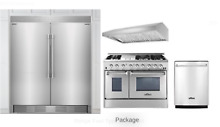 Thor Kitchen Frigidaire Professional 5 Piece Kitchen Appliances Package S  Steel