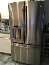 GE Profile Pfe  36 Inch French Door Refrigerator in Stainless Steel 26 7 Cu Ft