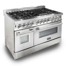 48  NEW ZLINE STAINLESS STEEL 6 0 cu ft  7 Gas Burner Electric Oven Range  RA48