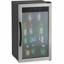 Avanti Beverage Cooler 3 1CF Glass Door BK SR BCA306SSIS