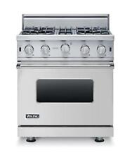Viking VGIC53014BSS 30  Professional Style Gas Range 4 Burners Free Dishwasher