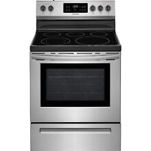 Frigidaire Stainless Steel 30  Electric Freestanding Range Warm Zone FFEF3054TS