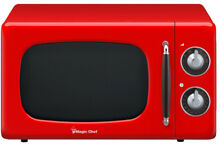 Magic Chef Microwave Oven Retro Red Classic Dial Control 0 7 cu  ft  Countertop