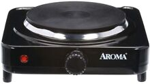 AROMA Single Burner Hot Plate Cooking Portable Compact Travel Surface Diecast