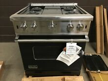 VIKING VGCC5304BBK 30  Professional Gas Range Stove 4 Burner Black