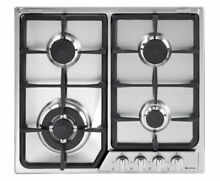 New Verona 24  Deluxe Stainless Steel Gas Cook Top   Chrome Knobs VEGCT424FSS
