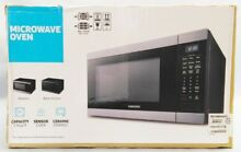 SAMSUNG MS19M8000AG 24  Black Stainless Countertop Microwave Nob  16296