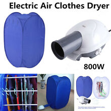 800W Portable Electric Clothes Dryer Heater Rack Air Drying Machine W  Air Pump