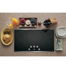 NEW GE Profile Series 36  Built In Knob Control Cooktop PP7036SJSS