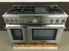 Thermador PRD486JDGU 48  Dual Fuel Range Pro Grand 6 Burners Stainless Steel