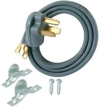 EZ FLO 3 Wire Dryer Cord Extension 10 ft 10 3 Part Accessory Replacement 3 Prong