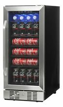 NewAir Compact 96 Can Built In Beverage Cooler Steel