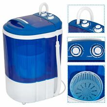 MINI Portable Wash Machine 9lbs Dual Knobs Timer Control Compact Laundry