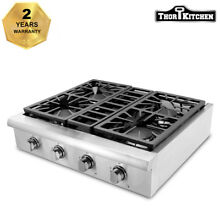 THOR KITCHEN 30  Gas Rangetop 4 burner Cooktop Stainless Wall Oven HRT3003U