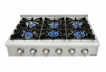 Thor Kitchen HRT3618U 36  Stainless Steel 6 Burner Range Top