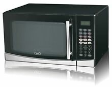 Oster 1 3 Cu Ft  1 100W Microwave with Grill Function Stainless Steel