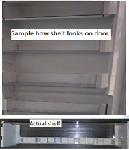 SUB ZERO 700TC 27  REFRIGERATOR REPLACEMENT DOOR SHELVES W TABS