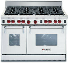Wolf 48  SS 8 Burners All Gas Range Model  R488