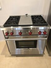Wolf 36  Gas Stoves WGR364GLP