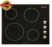 Magic Chef Radiant Electric Cooktop 24 in  Glass Ceramic Panel Dual Zone Black