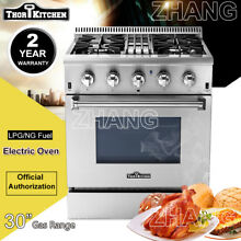 Thor Kitchen 30 Gas Range Oven 4 Burners Cook Dual Fuel Stainless Steel HRD3088U