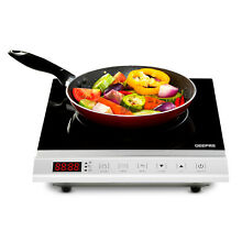 Geepas 2000W Induction Hob Single Portable Hot Plate Digital Electric Cooker
