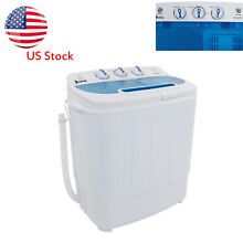 Compact Semi automatic Twin Tube Washing Machine US Standard 13Lbs Durable 360W