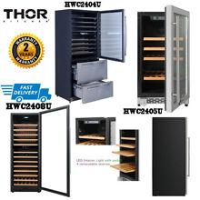 Thor Kitchen LED Touch Dual Zone Built in Wine Storage Wine Cooler Refrigerator
