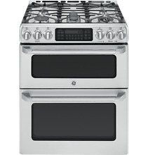 GE Cafe Series  CGS990SETSS 30 Inch Slide In Caf  Series Double Oven Gas Range