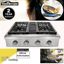 THOR KITCHEN 30  Gas Rangetop Oven Stoves Four burner Cooktop HRT3003U Baking