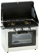 Camp Chef Outdoor Oven Pizza Camp Portable Double Burner Propane Gas Range Stove