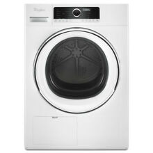 Whirlpool 24  Compact WHD5090GW White Front Load Electric Dryer Ventless Stackab