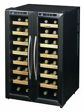 NewAir 32 Bottle Dual Zone Thermoelectric Wine Cooler in Black