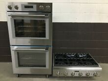 2 pc set  Thermador Range Top 36    Thermador 30  Double Wall Oven PO302W