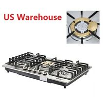 NG LPG Gas Hob   Conversion Kit 30  Stainless Steel Built in 5 Burners Cooktops