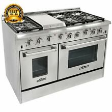 Thor Kitchen 48 inch Stainless Steel Professional Gas Range with 6 burners and G