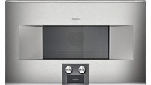 Gaggenau bm485710 400 series microwave speed oven combi left hinged