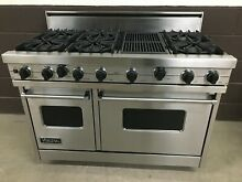 Viking 48  PRO Range Stove VGIS480 6QDS Gas 6 Burners Grill Stainless